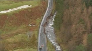 Important roads like the A595 through the Lake District were destroyed.