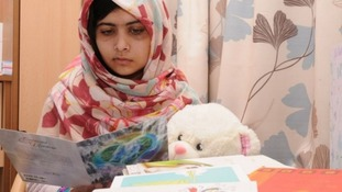 Malala Yousafzai was shot by a gunman in Pakistan one month ago.