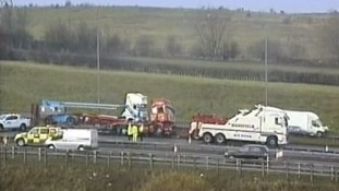 Work to reopen the motorway has taken place throughout