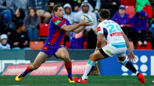 Jake Mamo in action for Newcastle Knights