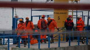 Members of Russia's emergencies ministry were among thousands involved in the search operation.