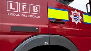 Man dies flat blaze in north London.