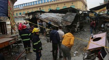 At least 21 people were killed in the blasts.