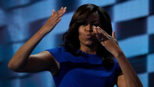 Michelle Obama at the  Democratic National Convention in July 2016.