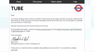 Tube strike: TfL advise passengers to 'complete their journey' by 6pm