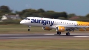 An Aurigny jet taking off
