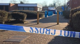 Police cordon in place at scene of suspected murder