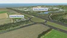 A still image taken from Highway Englands presentation details the new changes to the A19 junction
