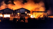 A blaze ripped through a factory in Wobaston Road, Wolverhampton.