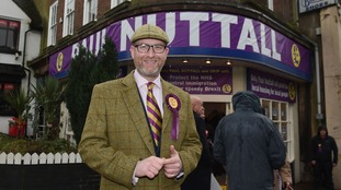 Paul Nuttall during his campaign launch for the Stoke-on-Trent
