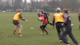 England women's rugby team prepare for the start of the Six Nations Championships