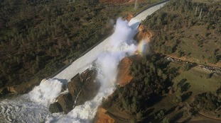 The spillway at California's Oroville Dam was thought to be an hour from failing.
