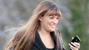 Nicola Benedetti arrives for the Rod Stewart Christmas Special being filmed at Stirling Castle