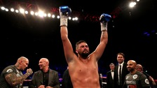 Tony Bellew scored an 11th-round technical knockout over Haye