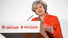 British Prime Minister speaking at the Conservative spring forum in Cardiff