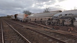 The train derailed in Somerset