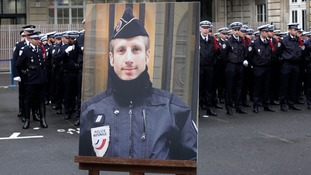 Xavier Jugele was also posthumously promoted to police captain.