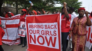 Widespread protests took place when they girls were kidnapped.