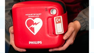 Library image of a defibrillator.