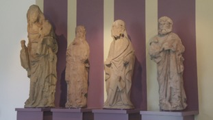 15th Century statues returned to Melrose
