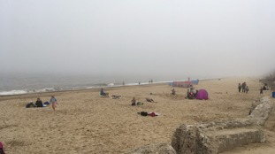 Crowds undeterred by fog and mist as they flock to our beaches and attractions