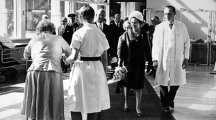 The Queens opens Hull Royal Infirmary in 1967