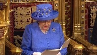 The Queen delivered the speech to mark the State Opening of Parliament.