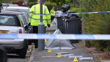 A police cordon has been set up in Woodgate Gardens