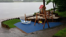 The new Talkin Tarn play area