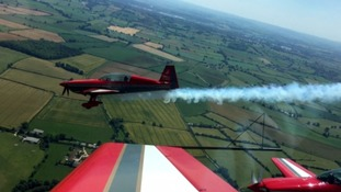 Get a cockpit view from Yeovilton Air Day stunt plane