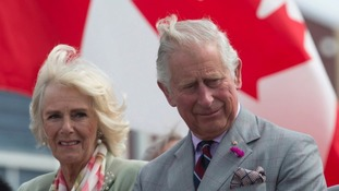 Camilla and Charles visited Canada in June.