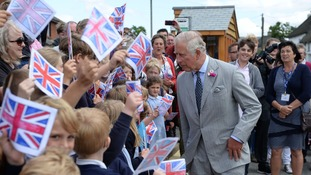 A warm Devon welcome for Charles and Camilla - complete with pies and pasties