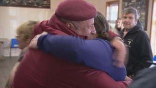 A warm welcome for one returning Falklands veteran