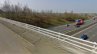Police believe an object struck the windscreen of a van which crashed on the M11 in Essex.