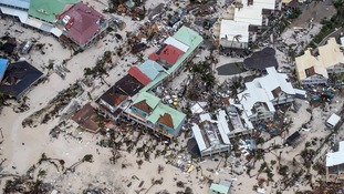 Hurricane Irma damage on the Dutch Caribbean island of Sint Maarten (Saint Martin)
