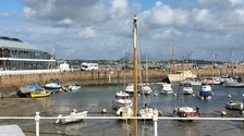 The smoke in St Helier can be seen from St Aubin