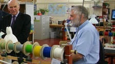 Vince Cable at Skye Instruments in Llandrindod Wells