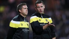 Manager Kevin Nolan (right) signed a new contract earlier this week.
