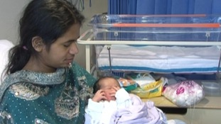 Mother Koly Begum gave birth at 06:45am on 01/01/2013