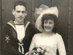 Christopher at his wedding in 1952