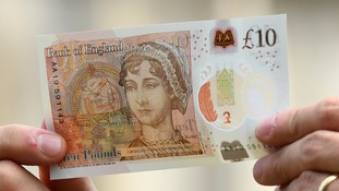 The new £10 note.