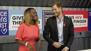 Prince Harry visits HIV clinic ahead of national testing week