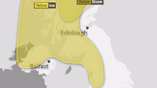 The yellow warning continues into this evening to tomorrow morning