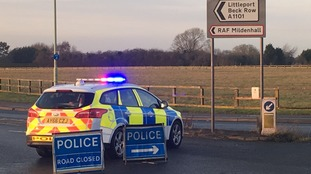 RAF Mildenhall: Shots fired during 'significant incident'