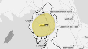 Yellow warning for rain in Cumbria