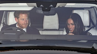 Harry and Meghan leave Buckingham Palace