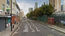 The incident happened on Westferry Road on the Isle of Dogs