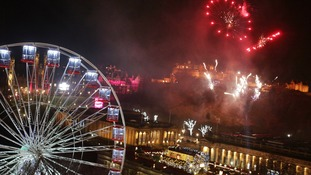 Hogmanay celebrations in Edinburgh.