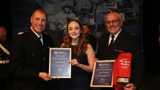 Two employees have received an award for their fundraising efforts