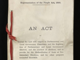 The Representation of the People Act was passed on February 6, 1918.